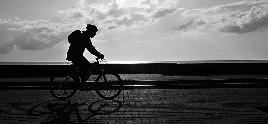 Laat op de fiets